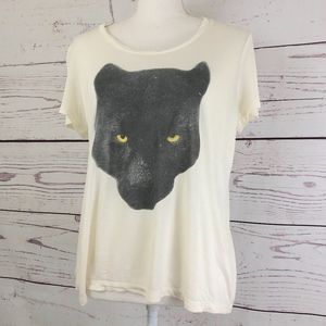 HAUTE HIPPIE Morning After Panther Tee Top